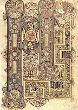 iluminacje Księgi z Kells [około 800 roku] Wikipedia